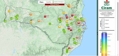 Mapa Epagri/Ciram - Nível dos Rios